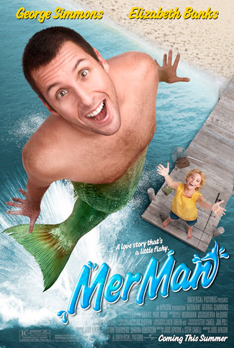 Sandlers Merman poster from Funny People.