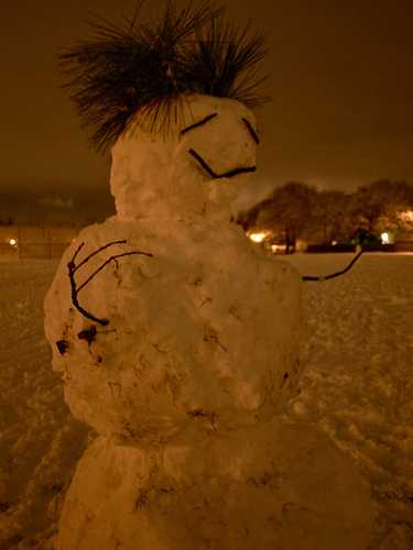 Snowman King in Irving Park