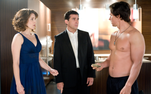 Pictured, left to right: Tina Fey, Steve Carell, Marky Marks nipples.