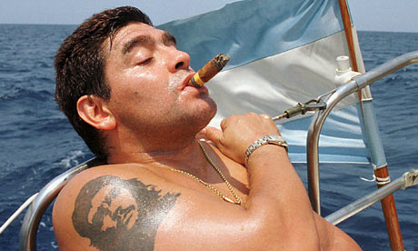 The Guardian; Maradona on having Che Guevara's face tattooed on his arm,