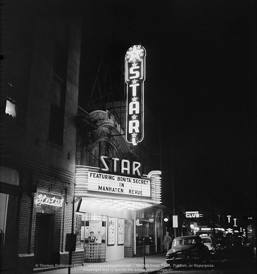 The Stars marquee in 1954. The hope is to rebuild it to its former glory.
