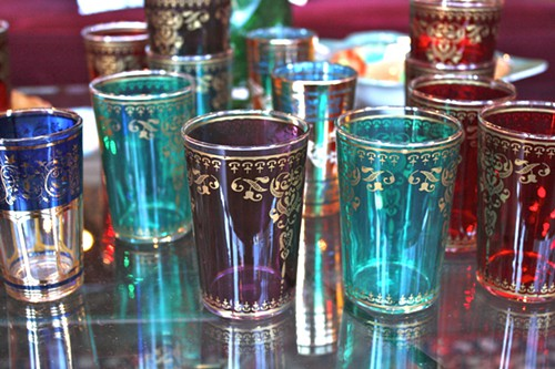 Assorted Moroccan inspired cups from Eden