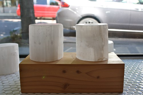 Selenite Votive Candle Holders from Canoe