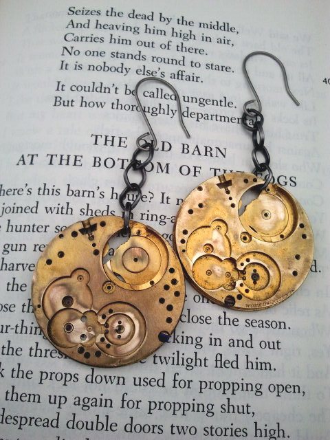 Recycled Watch Hardware Earrings