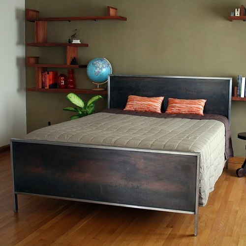 Steel Panel Bed (Queen Size)