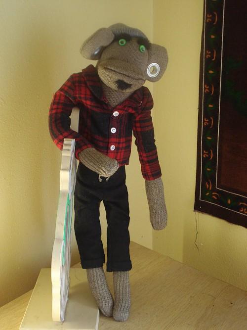 Arlo, Hipster Sock Monkey