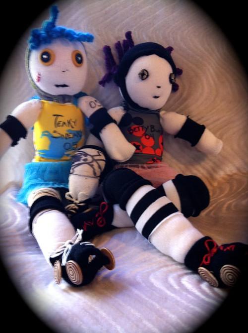 Teaky Sneaky Roller Derby Dolls