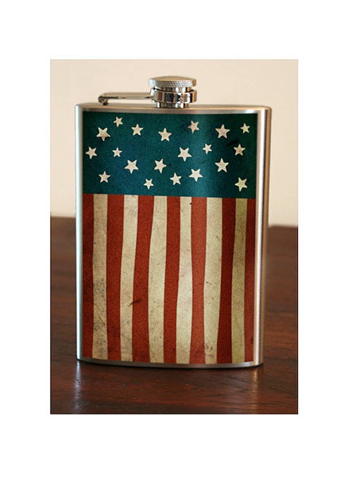 Old Glory American Flag Flask, 8 oz. Stainless Steel