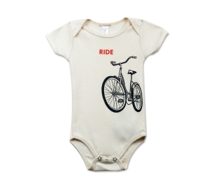 Little Lark Organic Bike Onesie