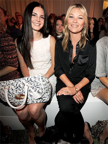 Lana with Queen Kate at the Mulberry Show in London
