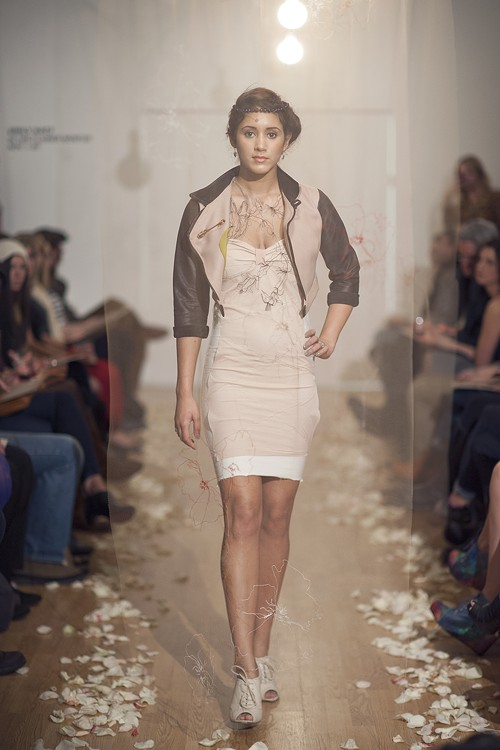 A look from Emily Katzs most recent runway show