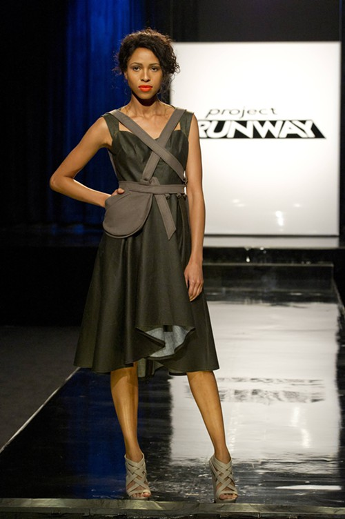 Portland contestant Michelle Lesniak Franklins first look for the runway.