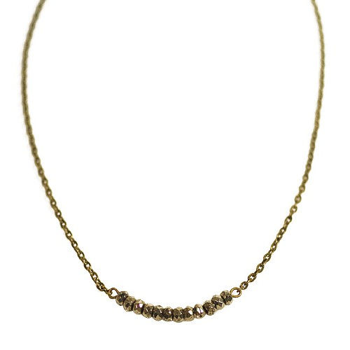 pyrite disc necklace