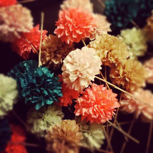 Pom pom decorations from PomLove... yep, theyll be there too.