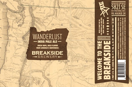 The new Wanderlust IPA from Breakside will represent in Washington, Idaho, and British Colubmia.