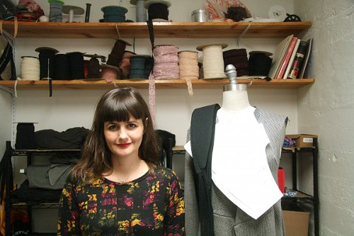 Sarah Bibb in her sew shop