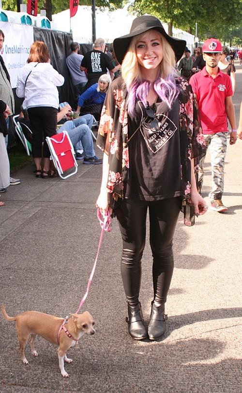 Sally (with her dog Rachel)
