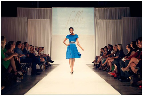 On the runway from last years show, a dress from Folly.