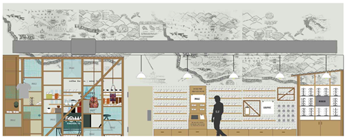 A rendering of the new TOMS Portland.